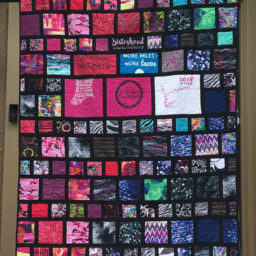Skirt Sports T-shirt quilt with sashing